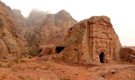 för petra-rock för stad jordan förlorad tomb för kunglig person Royaltyfri Fotografi