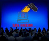 För Phishing för en hackerSpywareCybercrime begrepp bedrägeri Royaltyfri Bild