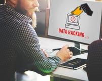 För Phishing för en hackerSpywareCybercrime begrepp bedrägeri Royaltyfria Foton