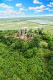 För Phoun för lodisar för terrass för Phnom Krom tampleelefant Byon Tample Angkor Wat Siem Reap Kambodja för tample för dam tempe Arkivbilder