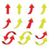 För pilklistermärke för vektor isolerad populär packe för uppsättning Arkivbilder
