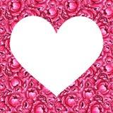 För pionblommor för vattenfärg rosa mall royaltyfri illustrationer