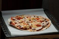 För pizzavänner Fotografering för Bildbyråer
