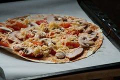 För pizzavänner Arkivbilder