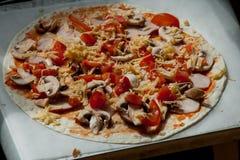 För pizzavänner Arkivfoton