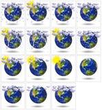 för planetrapport för jord 3d väder Royaltyfri Fotografi