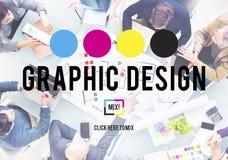 För planläggningsavsikt för design grafiskt idérikt begrepp för utkast royaltyfri foto