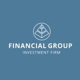 För planläggningsinvestering för finans finansiell fast logo för grupp Royaltyfri Bild