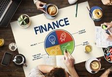 För planläggningsjämvikt för finans gemensamt begrepp för budget för bankrörelsen arkivfoto