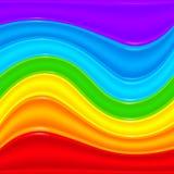 För plast- abstrakt bakgrund vektorvågor för regnbåge Royaltyfri Fotografi