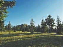 för poland för 1257 hög räkneverkbergberg sikt för soluppgång skrzyczne Royaltyfri Bild