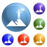 För politiska fastställd vektor målsymboler för höjd stock illustrationer