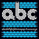 För popalfabet för vektor små moderna bokstäver, abc-uppsättning rundat Arkivfoto