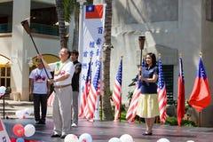 för porslinfred för hundraårsjubileum 5 fackla för tekniker taiwan Fotografering för Bildbyråer
