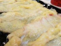 För porslinmat för kött kinesisk kock Royaltyfri Bild