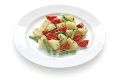 för potatissallad för böna grön tomat Royaltyfria Foton