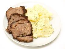 för potatisstek för nötkött utgångspunkt mosade skivor Royaltyfria Bilder