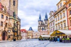 för prague för häst för vagn tjeck tecknad gammal town för fyrkant republik royaltyfri fotografi