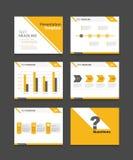 För presentationsmall för företags affär uppsättning bakgrunder för powerpoint malldesign Royaltyfria Bilder