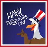 För presidentdag för skallig örn design Royaltyfria Bilder
