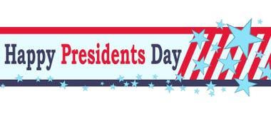 För presidentdag för vektor lyckligt baner bakgrund isolerad white Arkivbilder