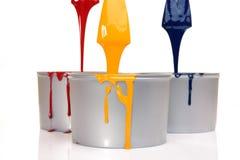 för pressprinting för cyan färgpulver magentafärgad yellow Arkivfoton