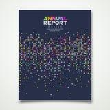 För prickdesign för årsrapport färgrik bakgrund stock illustrationer