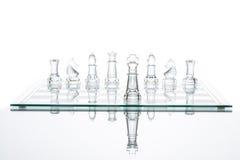 För prima genomskinligt glass schack ledarskapprestation för affär Royaltyfri Foto
