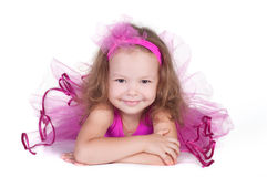 För prinsessaflicka för mode liten stående Arkivbilder