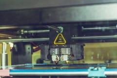 för printingsvart för skrivaren 3d lägenheten formar närbild Royaltyfri Fotografi