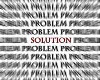 För problem och svarta röda ordmotsatser för lösning royaltyfria foton