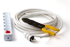 för proppstickkontakt för kabel elektrisk tråd för strippa Royaltyfria Foton
