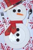 för prydnadinställning för jul festlig tabell Royaltyfri Bild