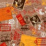 för prydnadpapper för bakgrund geometrisk gammal tappning royaltyfri illustrationer
