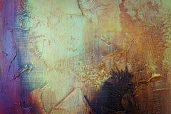 för prydnadpapper för bakgrund geometrisk gammal tappning Gammal målad vägg för tappning med mörkergulingur Arkivbilder