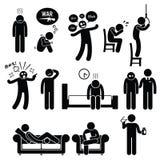 För psykisk störningproblem för psykologi psykiatrisk behandling för sjukdom Fotografering för Bildbyråer