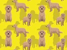 För Pyrenean sömlös tapet fårhundbakgrund för hund stock illustrationer