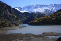 för pyrenees s för lakelanuzaberg dal tena Arkivbilder