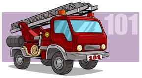 För räddningsaktionbrandstation för tecknad film nöd- lastbil stock illustrationer