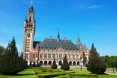för rättvisaslott för domstol internationell fred Arkivbilder