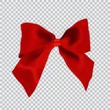 för röd blank white bandsatäng för bakgrund Pilbåge och band för vektor röd stock illustrationer
