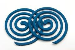 För rökelsecoil för mygga frånstötande blue Royaltyfri Fotografi