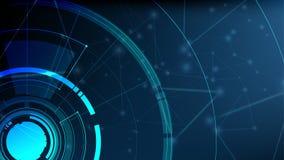 För radarljus för vektor abstrakt teknologisk mall Arkivbild