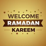 För ramadan för citationsteckenreligionvälkomnande islamiskt baner kareem royaltyfri illustrationer