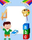 för ramfoto för 2 pojke skola Arkivfoto