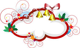 för ramgåvor för jul elegant vykort Royaltyfria Bilder