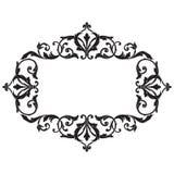 För ramgravyr för tappning barock prydnad för snirkel stock illustrationer