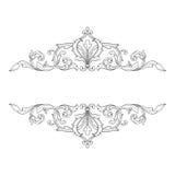 För ramgravyr för tappning barock prydnad för snirkel vektor illustrationer