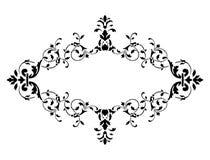 för ramillustration för svart garnering blom- vektor royaltyfri illustrationer