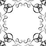 för ramscroll för bakgrund svart white Arkivbild